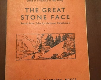 1933 london book, The Oxford English Course, The Great Stone Face
