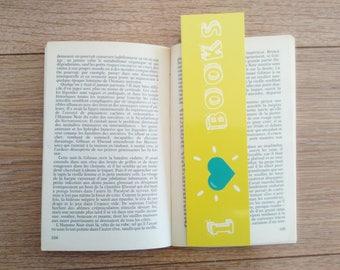 "Bookmark ""I love books"""