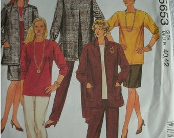 Women's Jacket, Top, Skirt and Pants Sizes 40-42 EASY McCalls Pattern 5653 Plus Size Fashion UNCUT Pattern 1991