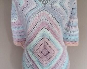Unique crocheted poncho