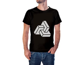 3D Rectangles Shape Incrusted - Cool Modern T-Shirt - Tees with Vinyl (J398)