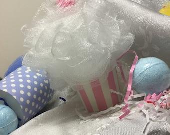 Gender Reveal Shower Puff Cupcake