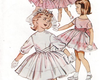 Little Girl's Butterick Retro 1960s summer dress first communion dress reissued pattern uncut and factory folded Out of Print