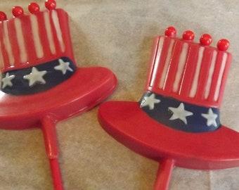Uncle Sam-Patriotic Hat Chocolate Candy Lollipop