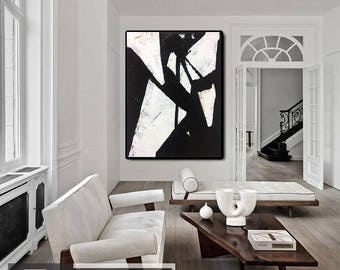 Contemporary Art, Canvas Painting, Abstract Artwork Painting, Abstract Art, Black White Abstract Art, Black White Art, Original Oil Art