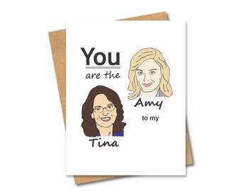 Tina Fey and Amy Poehler Card - Best Friends - Funny Friends
