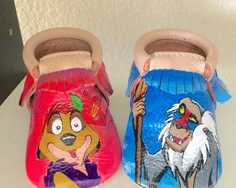 Hand Painted Baby Moccasins