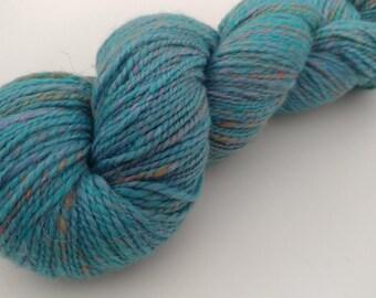 Handspun Merino, Tussah silk, Soffsilk yarn - 4 oz 300 yards - 2 ply dk weight