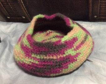 Home Decor Crochet Wool Felted Bowl