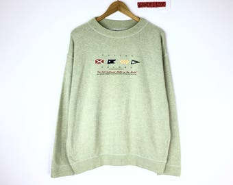 Rare!!! Vintage 90's Benetton Sweatshirt made in italy United Colors Of Benetton Spellout