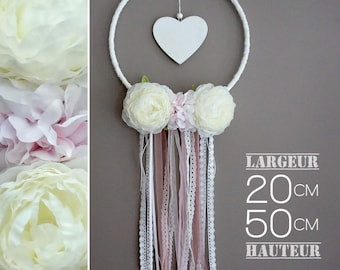 Dream catcher romantic white and pink