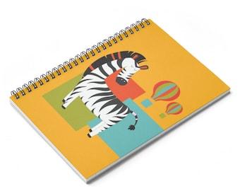 Zebra  Print Spiral Notebook  Ruled Line