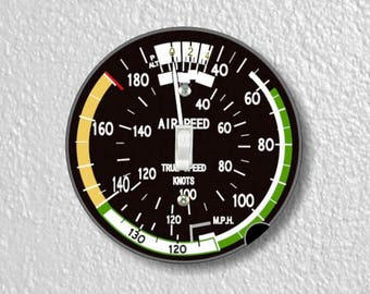 Aviation Airspeed Indicator Round Single Toggle Switch Plate Cover