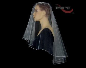 50 inch Drop Veil style Bridal Veil, Pencil Edge