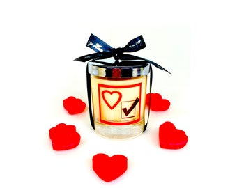 Anniversary gift, scented soy candle,Valentines gift for him/her, Couple gifts,Anniversary gift for him/her,I love you gift for him/her