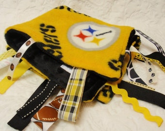 Pittsburgh Steelers Blanket with Ribbons