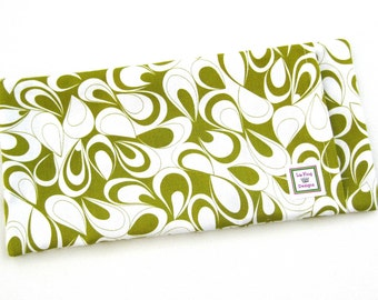 Heating Pad (Microwavable) Green and Cream Swirls // Buckwheat and Rice Heating Pad // Cold Pack // Heat Pack // Removable Cover