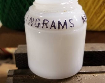 1930s Ingrams Milk Weed Cream Jar