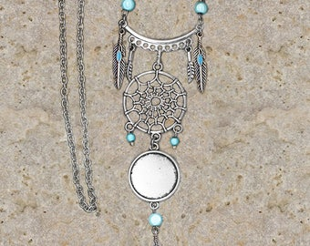 support cabochon 20 mm necklace dream catcher