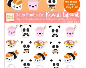 Kawaii takeout planner stickers