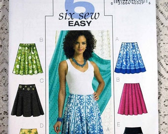 Butterick 4686, Misses' Skirt Sewing Pattern, Easy Skirt Pattern, Easy Sewing Pattern, Misses' Patterns, Misses' Size 6, 8, 10, 12, Uncut