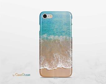 Ocean phone case, iPhone X 8 7 6 6s Plus phone case iPhone SE 5 5s phone case Samsung Galaxy S8 Plus S7 Edge - beach blue phone cover