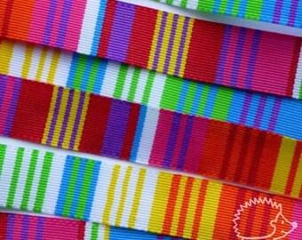"""4 m Ribbon fancy woven """"multicolor"""" 10mm"""