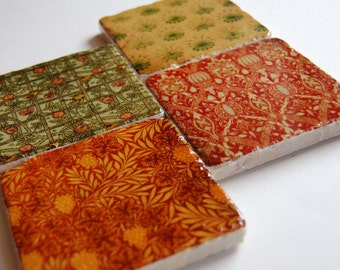 Rich Tapestry stone coaster set of 4 - immediate shipping