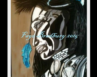 Small Native North American: Fine Art Giclee Print