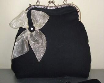 White/Black Bag