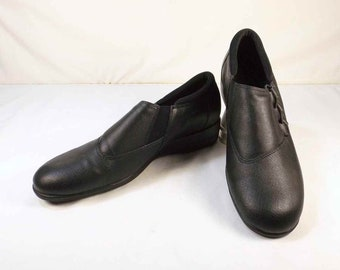 SOFWEAR Slip Ons Black Leather Loafers US Size 10N