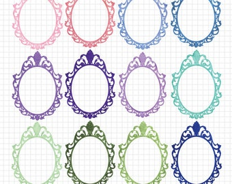 Princess Clipart Frames Digital Download Images Royalty Free Clip Art Images