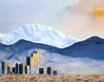 Rocky Mountain Sunset, Limited Edition Print, 29.75x11, unframed