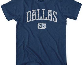 Dallas 214 T-shirt - Men and Unisex - XS S M L XL 2x 3x 4x - DFW Texas Tee - 4 Colors