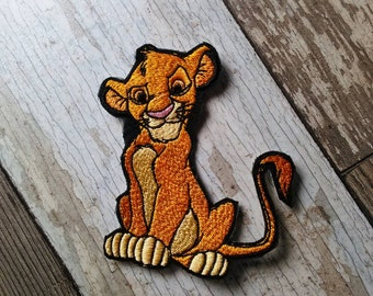 READY TO SHIP!!! Simba Lion King Inspired Embroidered Iron On Patch! Ready to ship!