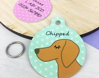 Dog Tag - Vizsla Dog ID Name Tag Personalised - Vizsla Collar Charm