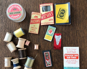 Vintage Sewing Notions and Spools