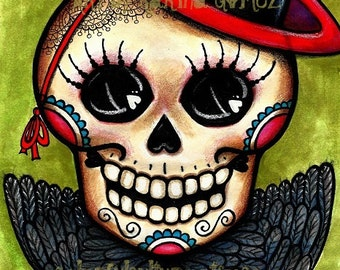 """Mamá Cuervo"""" Art Print  by Karina Gomez - Dia de Muertos - Day of the Dead Theme by Colorful Culture"""