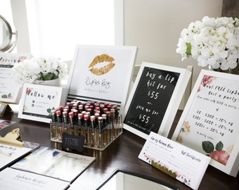 25% OFF (FALL SALE) LipSense Party Printable Package (3) 8 x 10's
