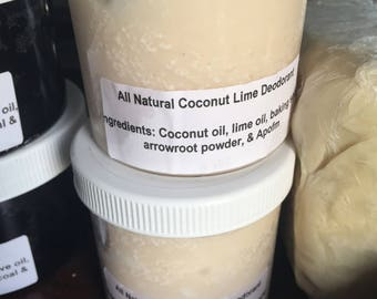 All Natural Coconut Lime Deodorant