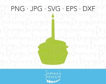 Cupcake SVG, Cupcake Clipart, Cupcake Clip Art, Birthday Cake SVG, Birthday Cupcake SVG, Cake Svg, Candle Svg, Cupcake Candle Svg, Svg File