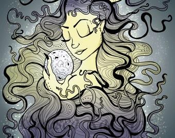 Downloadable Luna Illustration