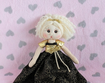 Lovely Fabric Doll - Fabiana