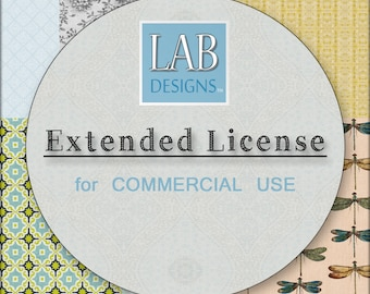 Extended License for Commercial Use (add-on for 1 product only - must be purchased with the artwork itself)