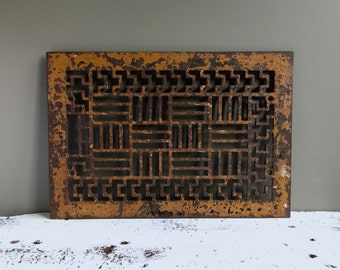 Architectural Salvage Floor Grate, Heat Register Floor Vent Cover, Gorgeous Pattern
