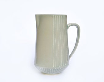 Striped Green Pitcher