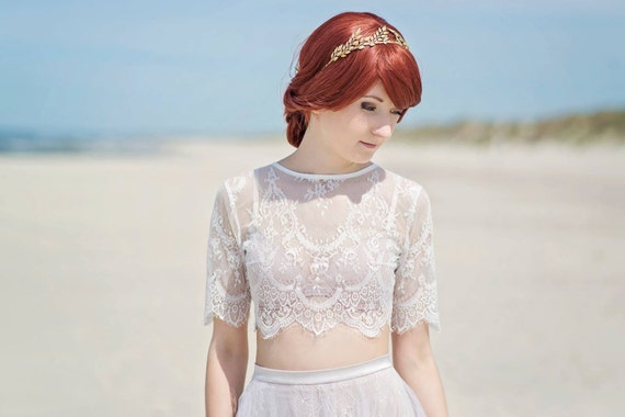 Alexandra - bridal lace topper