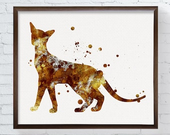 Siamese Cat Art - Siamese Cat Painting - Siamese Cat Print - Watercolor Siamese Cat - Siamese Cat Wall Decor - Cat Lover Gifts, Cat Wall Art