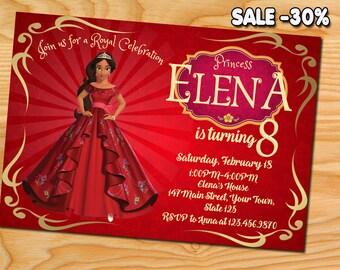 Elena of Avalor Invitation, Elena of Avalor Birthday Invitation, Elena of Avalor, Princess Elena of Avalor Invitation