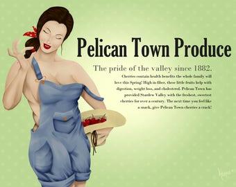 Pelican Town Produce Pin Up Print | Matte
